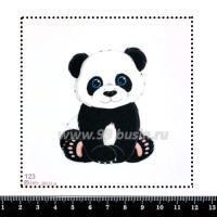 Шаблон для броши Панда 123, фетр Корея Премиум, толщина 1,25 мм, размер 10*10 см 063479 - 99 бусин