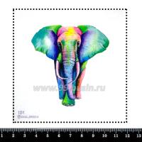 Шаблон для броши Цветной слон 101, фетр Корея Премиум, толщина 1,25 мм, размер 10*10 см 063483 - 99 бусин