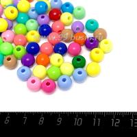 Бусины пластик 8 мм, разноцветный микс, 73 штук/упаковка 063485 - 99 бусин