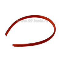 Ободок для волос в атласной ткани, ширина 9,5 мм, цвет красный, 1 штука 063502 - 99 бусин
