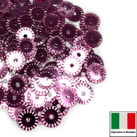 Пайетки 5 мм Италия рифлёные плоские цвет 3821 Rosa Metallizzati (Розовый металлик) 3 грамма 063505 - 99 бусин