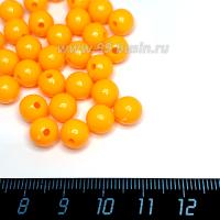 Бусины пластик 8 мм, цвет Мандариновый сорбет, 79 штук/упаковка 063513 - 99 бусин