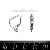 Швензы ювелирные № 10, 16*10*3 мм, покрытие Палладий 0,2 мк, 1 пара, производство Россия 063529 - 99 бусин