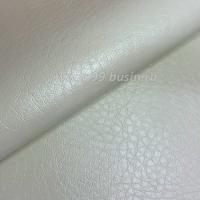 Экокожа, цвет белый, размер 20*14 см, толщина 1 мм, фактурность средняя, 1 лист 063531 - 99 бусин