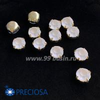 Шатоны (стразы) PRECIOSA MAXIMA пришивные хрустальные МАТОВЫЕ, размер ss-39 (8,4 мм), цвет Crystal/оправа Gold 1штука, Чехия 063534 - 99 бусин