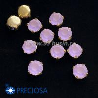 Шатоны (стразы) PRECIOSA MAXIMA пришивные хрустальные МАТОВЫЕ, размер ss-39 (8,4 мм), цвет Violet/оправа Gold 1штука, Чехия 063538 - 99 бусин