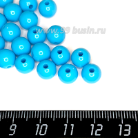 Бусины пластик 8 мм, цвет Топаз, 20 гр/ок 75 штук/упаковка 063555 - 99 бусин