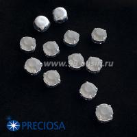 Шатоны (стразы) PRECIOSA MAXIMA пришивные хрустальные МАТОВЫЕ, размер ss-39 (8,4 мм), цвет Black Diamond/оправа Silver 1штука, Чехия 063557 - 99 бусин