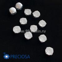 Шатоны (стразы) PRECIOSA MAXIMA пришивные хрустальные МАТОВЫЕ, размер ss-39 (8,4 мм), цвет Crystal/оправа Silver 1штука, Чехия 063558 - 99 бусин