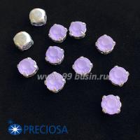 Шатоны (стразы) PRECIOSA MAXIMA пришивные хрустальные МАТОВЫЕ, размер ss-39 (8,4 мм), цвет Violet/оправа Silver 1штука, Чехия 063562 - 99 бусин