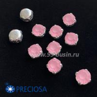 Шатоны (стразы) PRECIOSA MAXIMA пришивные хрустальные МАТОВЫЕ, размер ss-39 (8,4 мм), цвет Light Rose/оправа Silver 1 штука, Чехия 063564 - 99 бусин