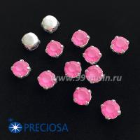 Шатоны (стразы) PRECIOSA MAXIMA пришивные хрустальные МАТОВЫЕ, размер ss-39 (8,4 мм), цвет Rose/оправа Silver 1 штука, Чехия 063565 - 99 бусин