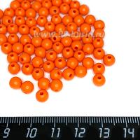 Бусины пластик 6 мм, Терракотовый, 20 гр/около 180 штук/упаковка 063571 - 99 бусин