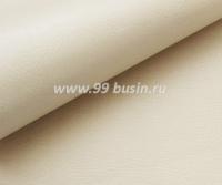 Экокожа, цвет бежевый матовый, размер 20*14 см,  толщина 0,8 мм, фактурность мелкая, 1 лист 063584 - 99 бусин