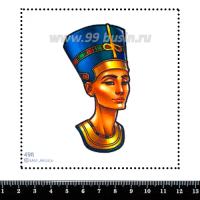 Шаблон для броши Нефертити, фетр Корея Премиум, толщина 1,25 мм, размер 10*10 см 063599 - 99 бусин
