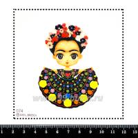 Шаблон для броши Фрида-девочка, фетр Корея Премиум, толщина 1,25 мм, размер 10*10 см 063600 - 99 бусин