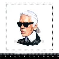 Шаблон для броши Карл, фетр Корея Премиум, толщина 1,25 мм, размер 10*10 см 063601 - 99 бусин
