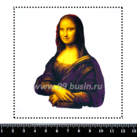 Шаблон для броши Мона Лиза, фетр Корея Премиум, толщина 1,25 мм, размер 10*10 см 063603 - 99 бусин