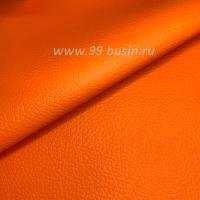 Экокожа, цвет оранжевый матовый, размер 20*14 см, толщина 0,8 мм, фактурность мелкая 1 лист 063619 - 99 бусин