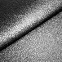Экокожа, цвет черный матовый, размер 20*14 см, толщина 0,8 мм, фактурность мелкая, 1 лист 063622 - 99 бусин
