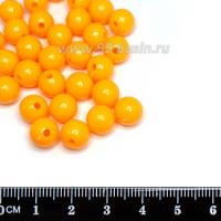 Бусины пластик 10 мм, цвет Мандариновый сорбет, около 40 штук/упаковка 063623 - 99 бусин
