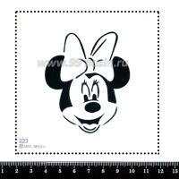 Шаблон для броши Минни 223, фетр Корея Премиум, толщина 1,25 мм, размер 10*10 см 063641 - 99 бусин