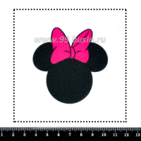 Шаблон для броши Минни с розовым бантом, фетр Корея Премиум, толщина 1,25 мм, размер 10*10 см 063642 - 99 бусин