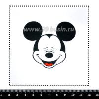 Шаблон для броши Микки с закрытыми глазками, фетр Корея Премиум, толщина 1,25 мм, размер 10*10 см 063644 - 99 бусин
