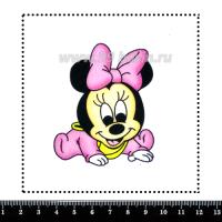 Шаблон для броши Малышка Минни, фетр Корея Премиум, толщина 1,25 мм, размер 10*10 см 063646 - 99 бусин
