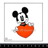 Шаблон для броши Микки с сердечком 259, фетр Корея Премиум, толщина 1,25 мм, размер 10*10 см 063647 - 99 бусин