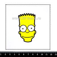 Шаблон для броши Барт, фетр Корея Премиум, толщина 1,25 мм, размер 10*10 см 063657 - 99 бусин