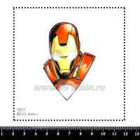 Шаблон для броши Железный человек 1011, фетр Корея Премиум, толщина 1,25 мм, размер 10*10 см 063663 - 99 бусин