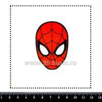 Шаблон для броши Человек Паук, фетр Корея Премиум, толщина 1,25 мм, размер 10*10 см 063665 - 99 бусин