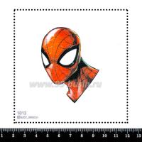 Шаблон для броши Человек Паук 1012, фетр Корея Премиум, толщина 1,25 мм, размер 10*10 см 063666 - 99 бусин