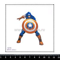 Шаблон для броши Капитан Америка 1016, фетр Корея Премиум, толщина 1,25 мм, размер 10*10 см 063667 - 99 бусин