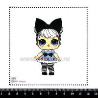 Шаблон для броши Кукла ЛОЛ 087, фетр Корея Премиум, толщина 1,25 мм, размер 10*10 см 063671 - 99 бусин