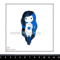 Шаблон для броши Девочка/волосы космос 775, фетр Корея Премиум, толщина 1,25 мм, размер 10*10 см 063674 - 99 бусин