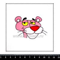 Шаблон для броши Розовая пантера, фетр Корея Премиум, толщина 1,25 мм, размер 10*10 см 063683 - 99 бусин