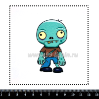 Шаблон для броши Зомби, фетр Корея Премиум, толщина 1,25 мм, размер 10*10 см 063685 - 99 бусин