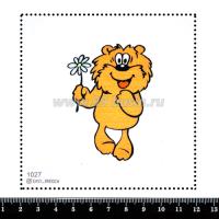 Шаблон для броши Медвежонок Трям 1027, фетр Корея Премиум, толщина 1,25 мм, размер 10*10 см 063686 - 99 бусин