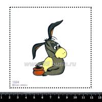 Шаблон для броши Иа с горшочком 1024 фетр Корея Премиум, толщина 1,25 мм, размер 10*10 см 063701 - 99 бусин