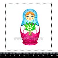 Шаблон для броши Матрёшка фетр Корея Премиум, толщина 1,25 мм, размер 10*10 см 063702 - 99 бусин