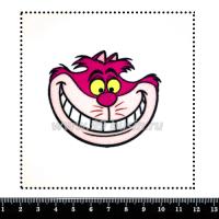 Шаблон для броши Чеширский кот розовый фетр Корея Премиум, толщина 1,25 мм, размер 10*10 см 063709 - 99 бусин
