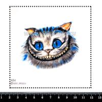 Шаблон для броши Чеширский кот 484 фетр Корея Премиум, толщина 1,25 мм, размер 10*10 см 063710 - 99 бусин