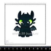 Шаблон для броши Беззубик 958 фетр Корея Премиум, толщина 1,25 мм, размер 10*10 см 063712 - 99 бусин