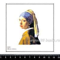 Шаблон для броши Девушка с жемчужной сережкой 835 фетр Корея Премиум, толщина 1,25 мм, размер 10*10 см 063723 - 99 бусин