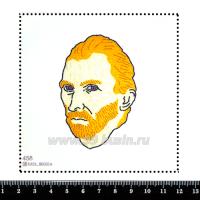 Шаблон для броши Ван Гог 458 фетр Корея Премиум, толщина 1,25 мм, размер 10*10 см 063724 - 99 бусин