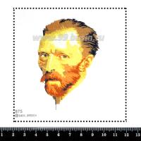 Шаблон для броши Ван Гог 875 фетр Корея Премиум, толщина 1,25 мм, размер 10*10 см 063725 - 99 бусин