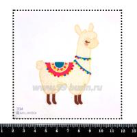 Шаблон для броши Лама 334, фетр Корея Премиум, толщина 1,25 мм, размер 10*10 см 063824 - 99 бусин
