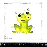 Шаблон для броши Лягушка 951, фетр Корея Премиум, толщина 1,25 мм, размер 10*10 см 063826 - 99 бусин